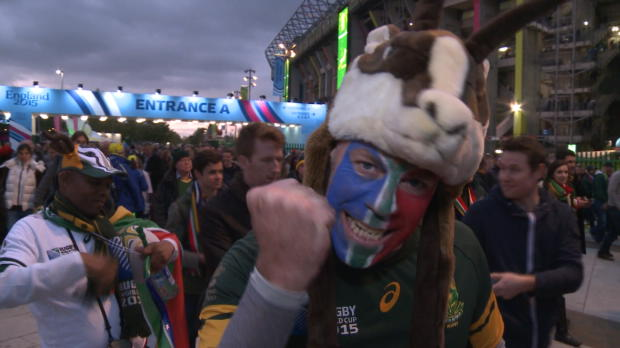 CdM 2015 - Les supporters des Boks enchant�s