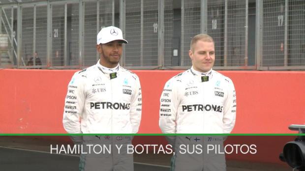 F1 - Hamilton y Bottas presentan su máquina