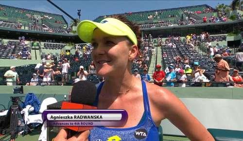 Radwanska Interview: WTA Miami 3R