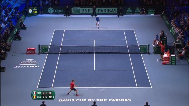 Tennis : Finale - Goffin lance la Belgique