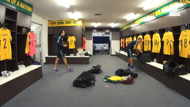 Socceroos change room time lapse