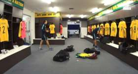 Go inside the Caltex Socceroos change room ahead of the FIFA World Cup qualifier against UAE.