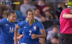 It took just a minute for Brazil to go in front with Fabiana tapping in at the far post.
