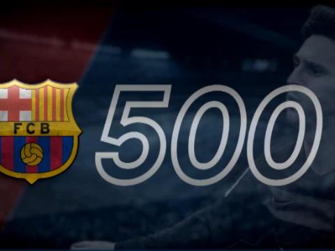 كرة قدم: الدوري الاسباني: ميسي يسجّل هدفه رقم 500 لبرشلونة