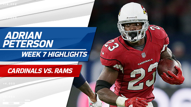Arizona Cardinals RB Adrian Peterson highlights | Week 7