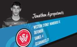 Wanderers defender Jonathan Aspropotamitis has been named December's nominee for the NAB Young Footballer of the Year Award.