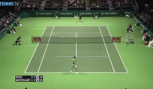 Bautista Agut Hot Shot: ATP Rotterdam 2R
