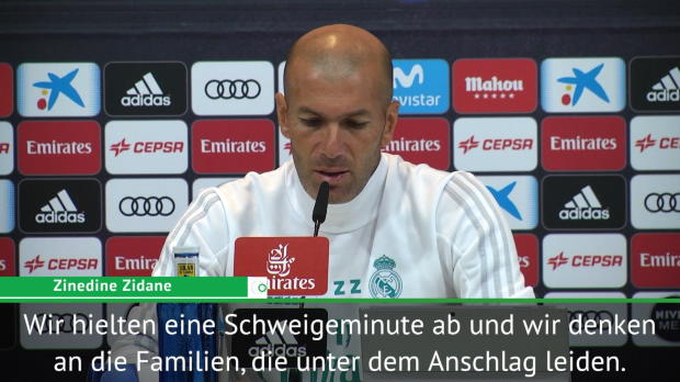 Barcelona-Terror: Zidane drückt Mitgefühl aus