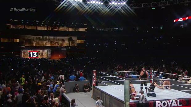 Baron Corbin eliminates Braun Strowman from the Royal Rumble Match: Royal Rumble 2017