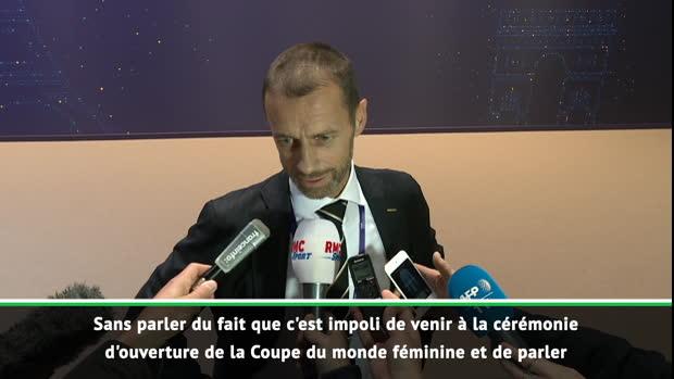 UEFA - Ceferin sur les propos de Macron :'C'est de l'ingérence politique, c'est impoli et inapproprié'
