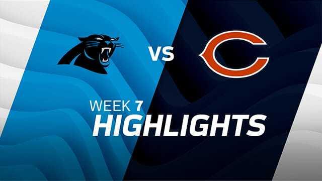 Panthers vs. Bears highlights | Week 7