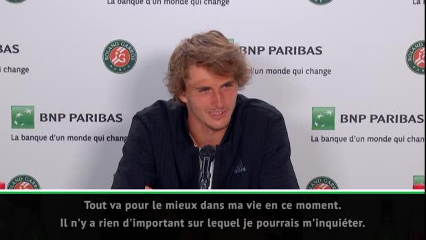 """Basket : Roland-Garros - Zverev - """"Tout va pour le mieux dans ma vie en ce moment"""""""