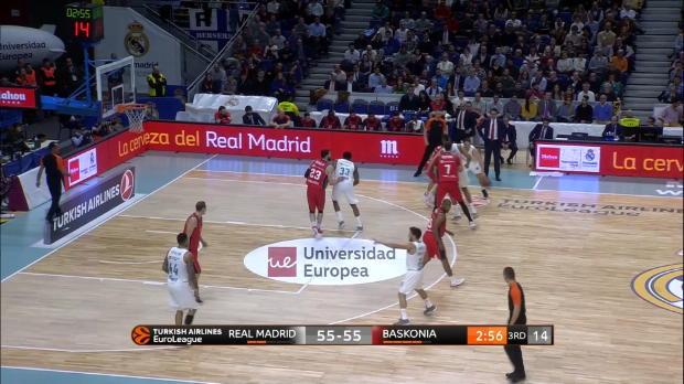 Basket : 18e j.? Des français en vue et une fin dantesque dans le choc Real Madrid - Baskonia (75-73)