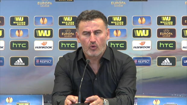 L'entraineur de l'AS Saint-Etienne était très remonté contre le corps arbitral après le nul concédé à domicile (1-1) contre Qarabag.