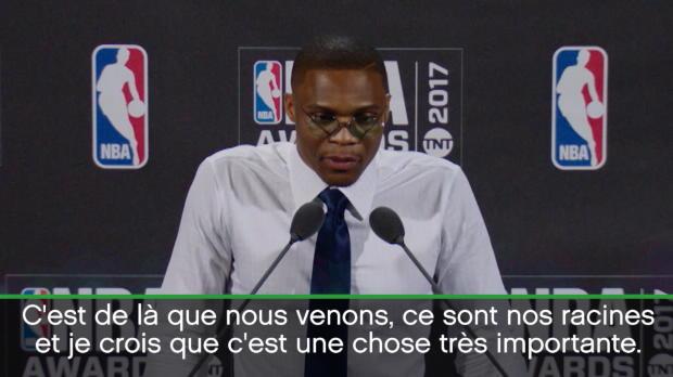 Basket : MVP - Westbrook félicite ses concurrents Harden et Leonard