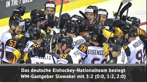 Eishockey: Draisaitl! DEB-Team schlägt Slowakei