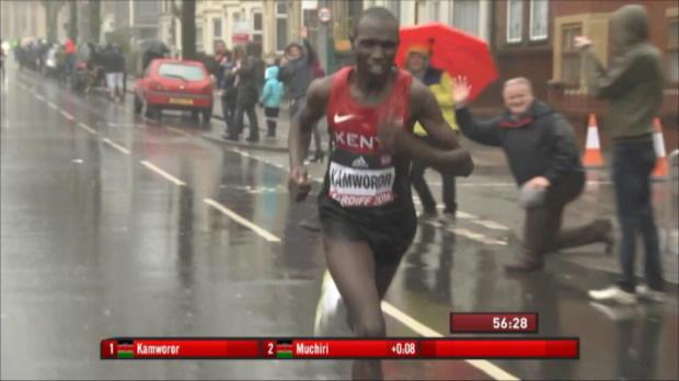 Halbmarathon-WM: Kenianer dominieren vor Farah