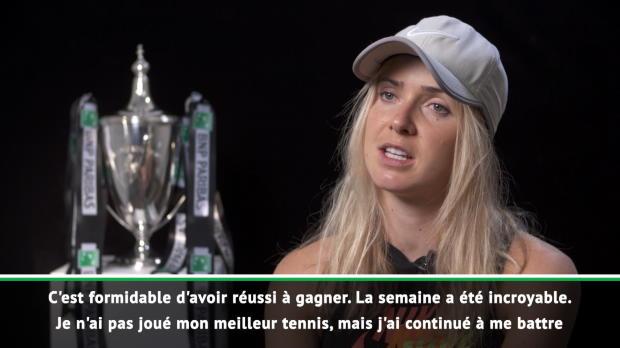: Masters - Svitolina - 'Je n'ai pas joué mon meilleur tennis'