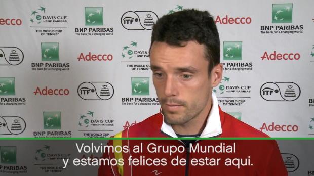 """Copa Davis - Roberto Bautista: """"Estamos contentos de volver al Grupo Mundial"""""""