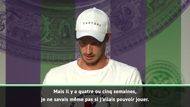 : Wimbledon - Murray - 'Une fois sur le court, je vais tout faire pour gagner'