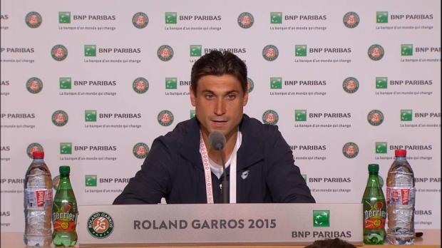 Roland Garros - David Ferrer, feliz tras superar a Gimeno-Traver