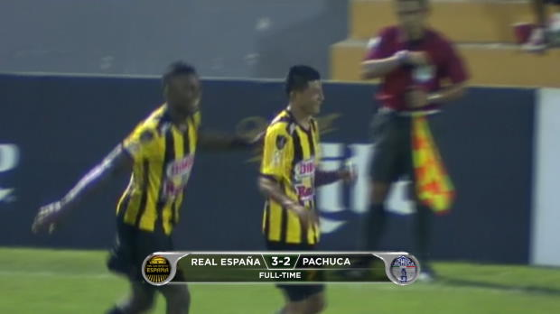 Concacaf Champions League: Real Espa�a 3-2 Pachuca