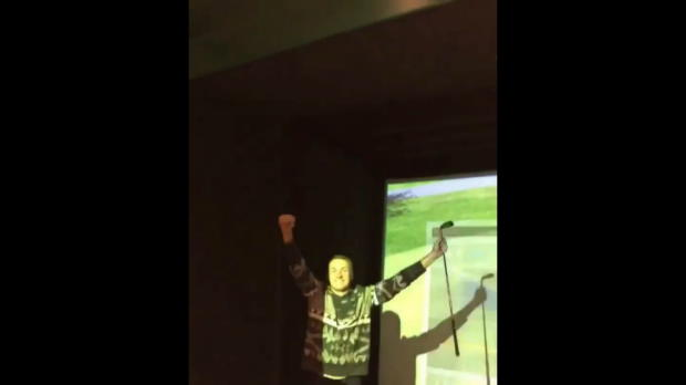 Spieth sinks hole-in-one on simulator