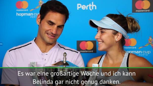 """Hopman Cup: Federer adelt """"Double-MVP"""" Bencic"""