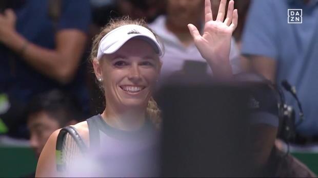 Finals: Wozniacki verpasst Halep herbe Klatsche