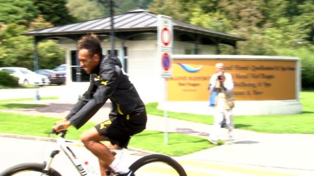 Bundesliga - Borussia Dortmund, Aubameyang, cycliste hors pair