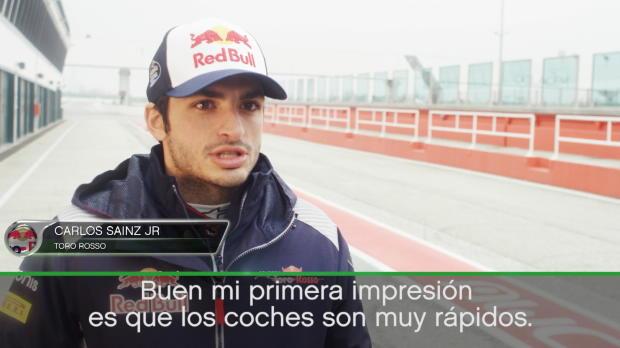 """Carlos Sainz Jr: """"Los coches parecen muy rápidos"""""""