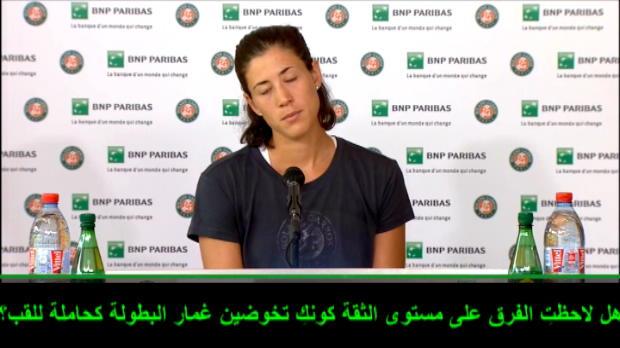 عام: تنس: موغوروزا واقعيّة خلال سعيها للحفاظ على لقبها في بطولة فرنسا المفتوحة