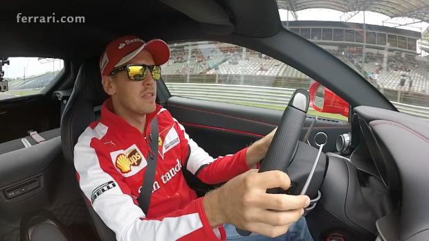 F1: Mit Vettel im Ferrari durch Ungarn