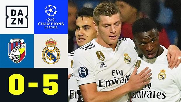 UEFA Champions League: Pilsen - Real Madrid   DAZN Highlights