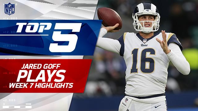 Los Angeles Rams QB Jared Goff top five plays | Week 7