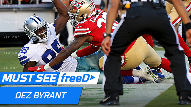 freeD: See Dez Byrant's record-tying toe-tap TD in 360-degree view | Week 7