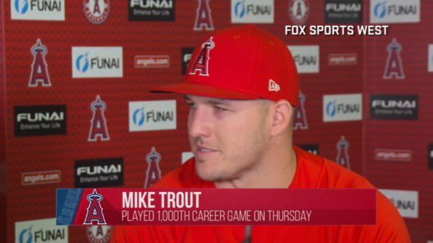 Trout on playing 1,000th game