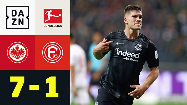 Bundesliga: Eintracht Frankfurt - Fortuna Düsseldorf | DAZN Highlights