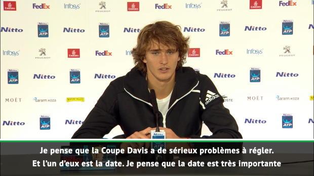 """Basket : Coupe Davis - Zverev - """"Beaucoup de top joueurs ne joueront pas"""""""