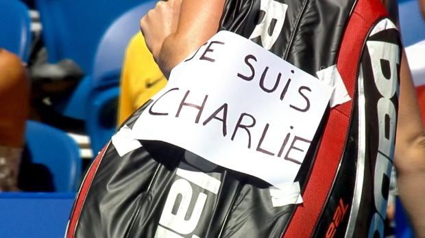 """Hopman Cup: Cornet: """"Je suis Charlie"""""""