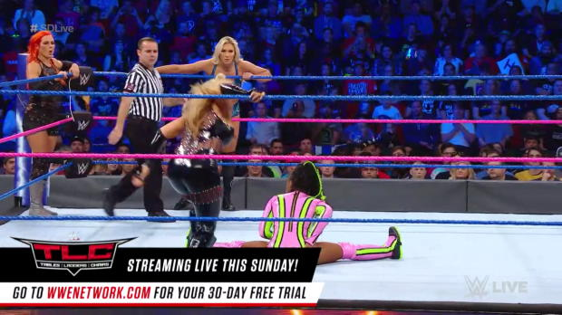 Charlotte Flair, Naomi & Becky Lynch vs. Natalya, Lana & Tamina: SmackDown LIVE, Oct. 17, 2017