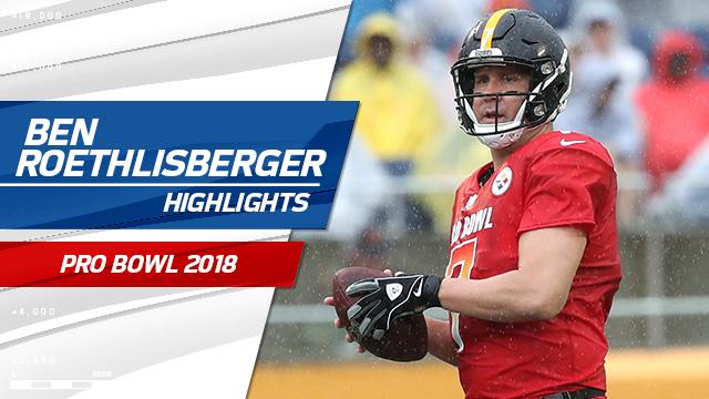 deeb7122e36 Video: Ben Roethlisberger highlights   Pro Bowl 2018
