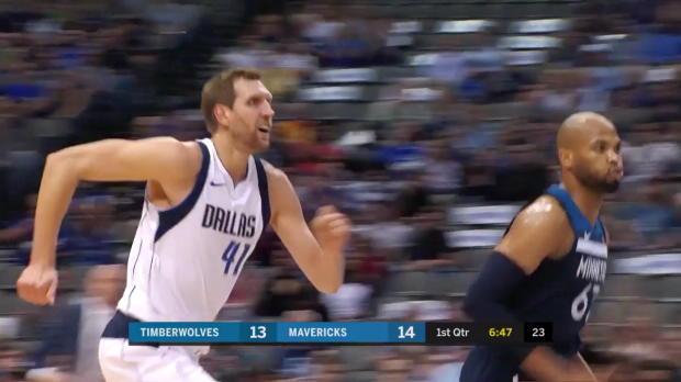 WSC: Dirk Nowitzki (15 points) Game Highlights vs. Minnesota Timberwolves