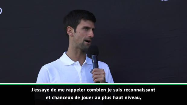: Open d'Australie - Djokovic - 'Reconnaissant et chanceux de jouer au plus haut niveau'