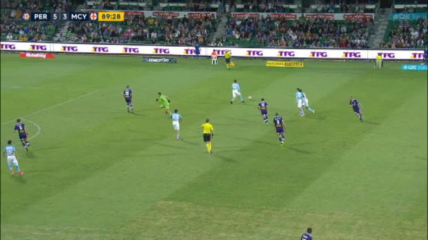 Glory keeper's outfield gaffe