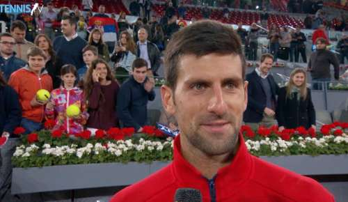 Djokovic Interview: ATP Madrid SF