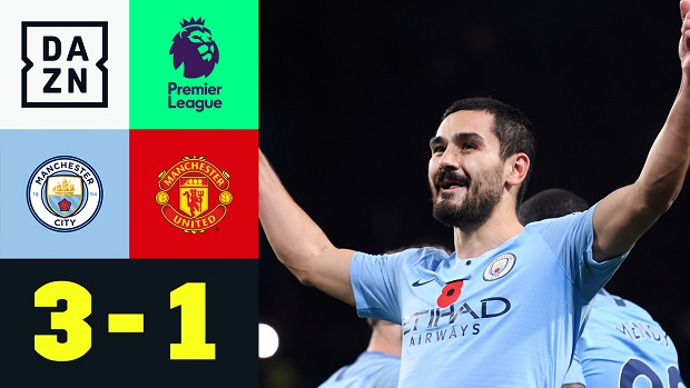 Premier League: Man City - Man United   DAZN Highlights