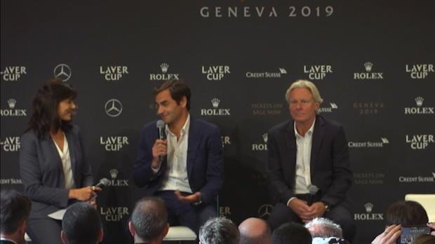 Laver Cup 'Dahoam': Federer und Borg in Genf