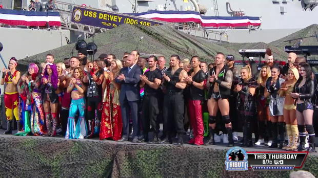 Lilian Garcia delivers a rousing rendition of the U.S. National Anthem at WWE Tribute to the Troops 2017
