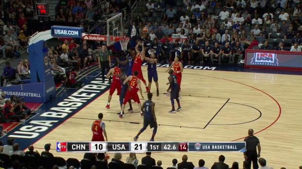 WSC: Highlights: Klay Thompson (17 points) vs. the China, 7/24/2016